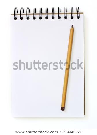 Fehér rajz könyv szépia ceruza izolált Stock fotó © ozaiachin