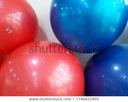 red and blue balls stock photo © ciklamen