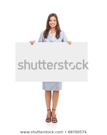 Businesswoman leaning on a board Stock photo © photography33