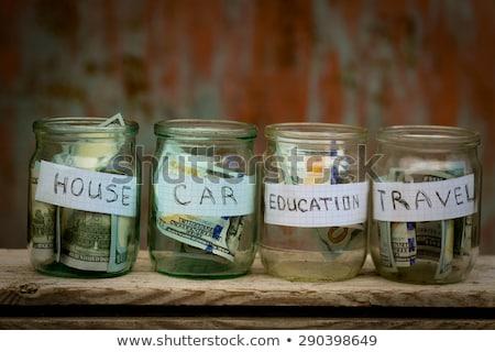 glass jar with coins college stock photo © asturianu