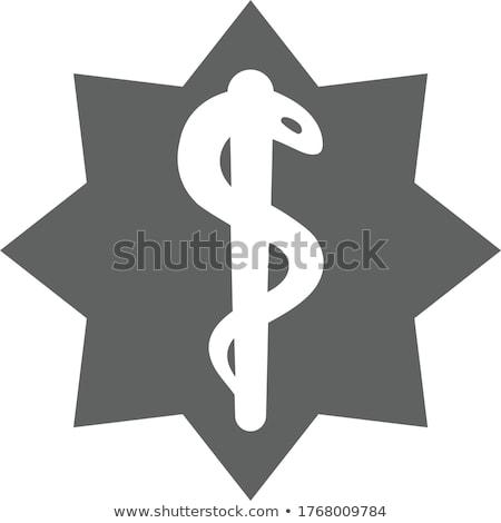 Nood star Blauw witte medische geneeskunde Stockfoto © lkeskinen