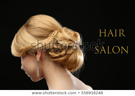 Hair salon concept - festive hairdo. Stylish hairstyle Stock photo © gromovataya
