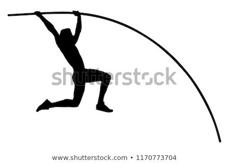 Atleta polo tema campo hombre fondo Foto stock © leonido