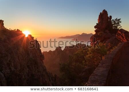 Mountains landscape, sunset in Corsica Stock photo © blasbike