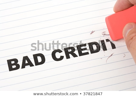 Eraser слово плохо кредитных изменений Сток-фото © devon