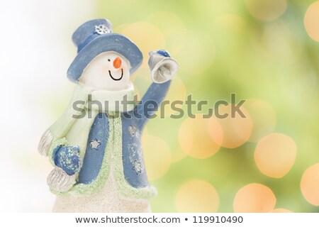 hópehely · absztrakt · zöld · arany · fehér · hó - stock fotó © feverpitch