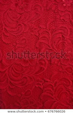 красный кружево Cute Sexy брюнетка рубашку Сток-фото © carlodapino