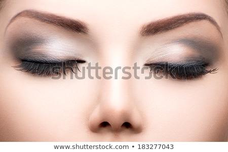 Güzellik uzun kirpik güzel Stok fotoğraf © carlodapino