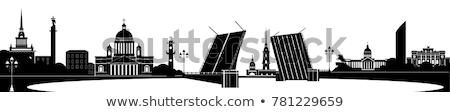 panorama · palacio · puente · río · dorado · cúpula - foto stock © michey