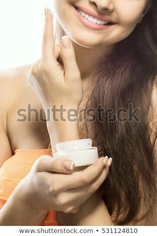 jonge · mooie · vrouw · vampier · kijken · gezicht · jeugd - stockfoto © pawelsierakowski