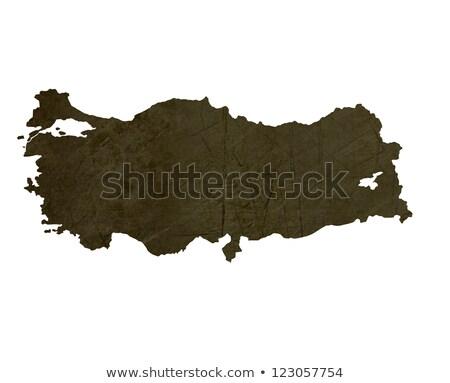 Dark silhouetted map of Turkey stock photo © speedfighter