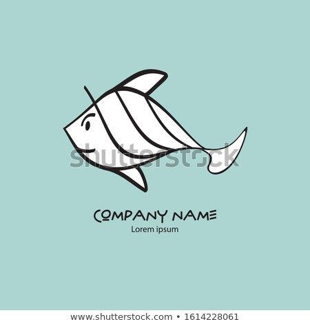 Japanese fishes names  on fish shape (white) stock photo © seiksoon
