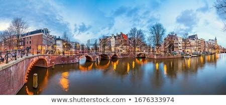 Híd Amszterdam csatorna díszes Hollandia víz Stock fotó © Roka