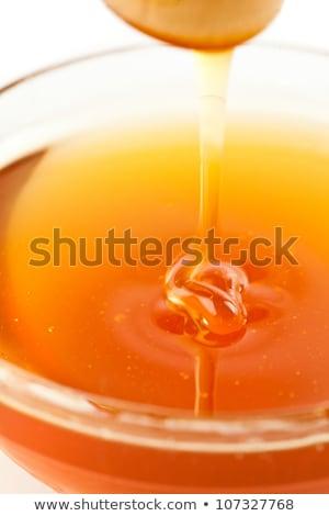 Közelkép méz tál fehér háttér édes Stock fotó © wavebreak_media
