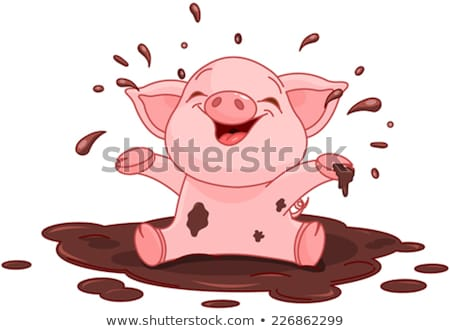 Pig in puddle Stock photo © Genestro