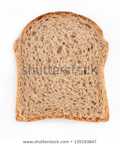 Bruin brood vierkante plakje volkorenbrood zaden Stockfoto © zhekos