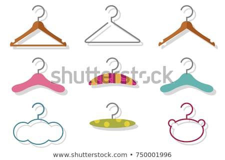 clothes hanger vector set stock photo © beaubelle