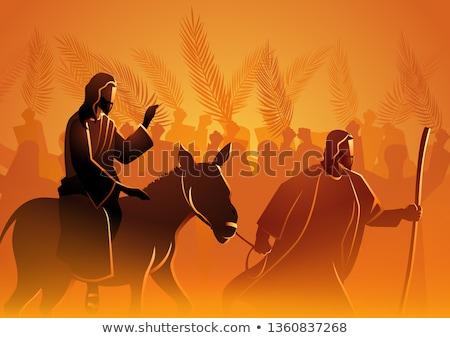 Jézus · Jeruzsálem · gravírozott · illusztráció · kép · klasszikus - stock fotó © snapshot