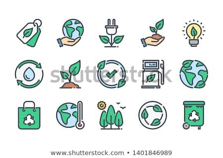 çevre · yeşil · ampul · simgeler · ışık - stok fotoğraf © cteconsulting