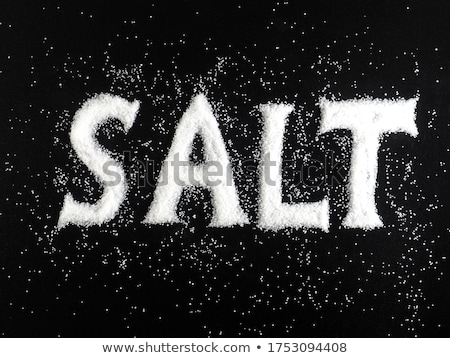 word salt on black background stock photo © deyangeorgiev