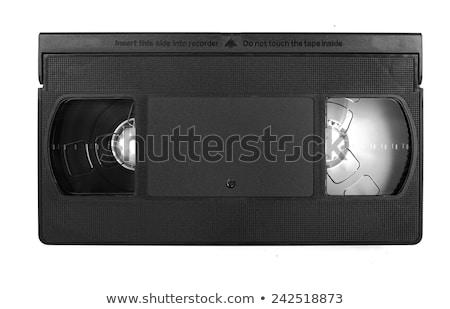 starych · wideo · taśmy · odizolowany · biały · telewizji - zdjęcia stock © claudiodivizia