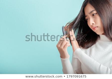 Quebrado cabelo feminino textura homens Foto stock © badmanproduction