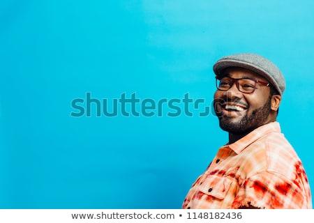 Wesoły pyzaty mężczyzn śmiechem eps Zdjęcia stock © RAStudio