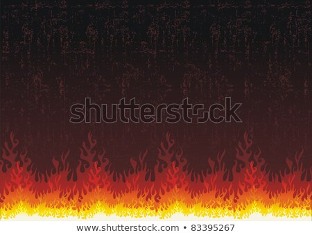 Hot Orange Flames over black Stock photo © ArenaCreative
