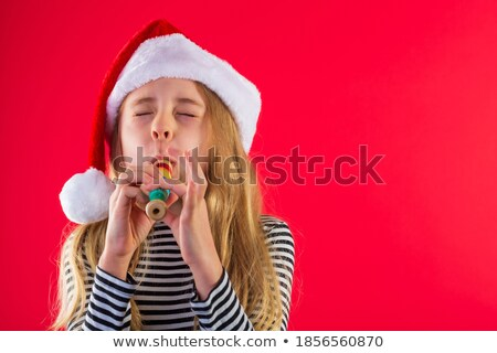 Retrato menina flauta criança fundo Foto stock © zzve
