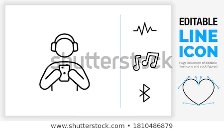 Muziek vector business ontwerp telefoon Stockfoto © kraska