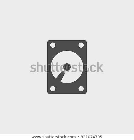 Vector icon hard disk Stock photo © zzve
