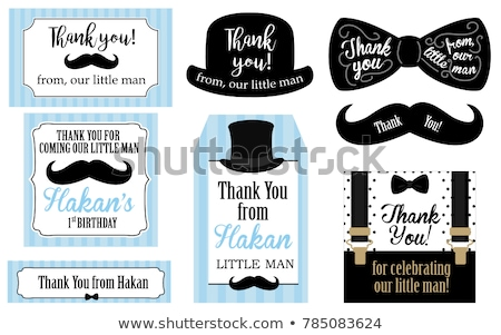 Retro / Vintage mustache set for happy movember day Stock photo © orson
