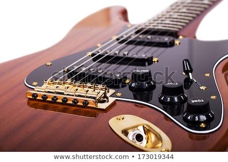 エレキギター 橋 マクロ 抽象的な 写真 浅い ストックフォト © sumners