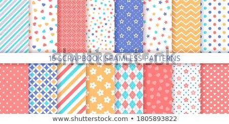rhombus, stripes, and zig zag seamless pattern Stock photo © creative_stock