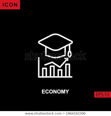 Fekete dollár oktatás pénzügy Stock fotó © devon