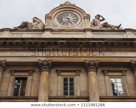 big urban clock milan italy stock photo © rglinsky77
