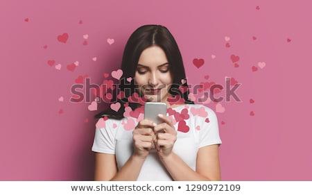 línea · amor · social · los · medios · de · comunicación · caída · internet - foto stock © lordalea