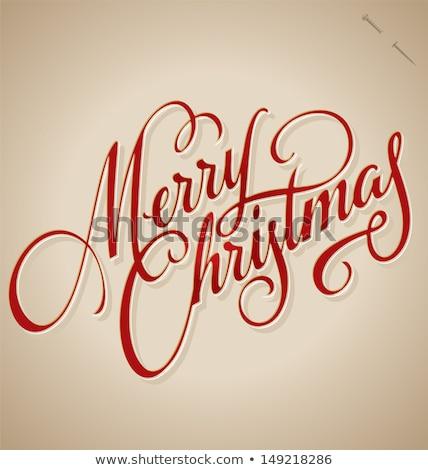 Merry Christmas Vintage retro typo backgrounds Stock photo © DavidArts