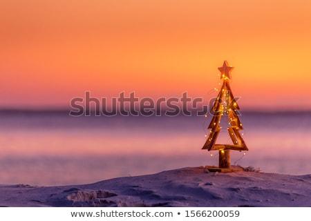 Рождества · подарки · пляж · песок - Сток-фото © lightsource