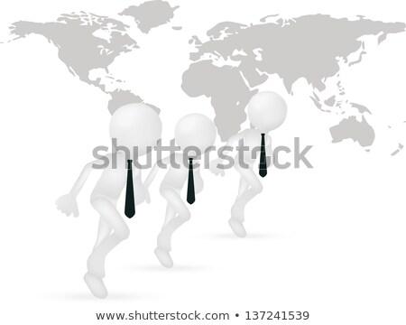 üzletember · verseny · illusztráció · 3D · vektor · fut - stock fotó © istanbul2009