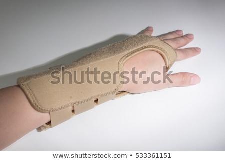 túnel · síndrome · mão · isolado · branco · negócio - foto stock © belahoche