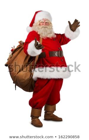 portré · mikulás · tart · karácsony · táska · gesztikulál - stock fotó © hasloo