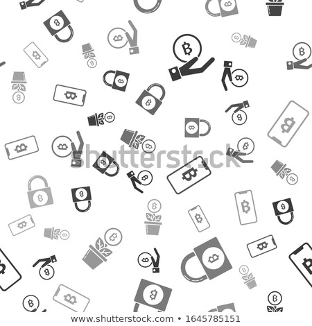 hand holding padlock with bitcoin symbol stock photo © stevanovicigor