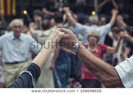 dansçılar · kızlar · birlikte · siyah · tiyatro - stok fotoğraf © sailorr