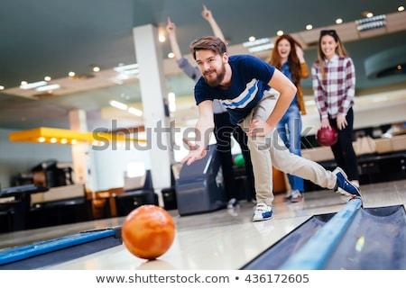 Homem boliche esportes homens diversão bola Foto stock © Jasminko
