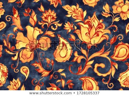 colorful paisley pattern Stock photo © Elmiko