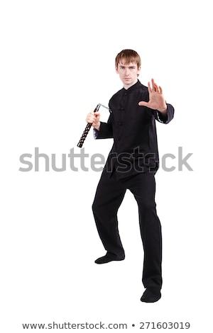 Karate férfi izolált fehér művészet űr Stock fotó © Elnur