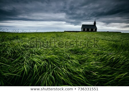Lonely church in the field stock photo © CaptureLight