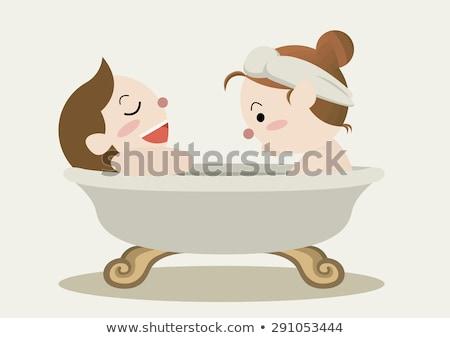 Couple Enjoying Soothing Bath Stock photo © Kakigori