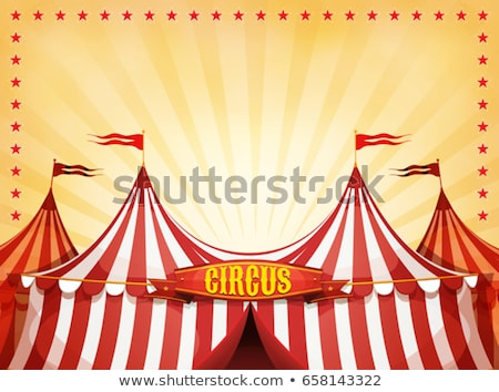 cartoon · circus · tent · vector · Blauw · witte - stockfoto © madebymarco